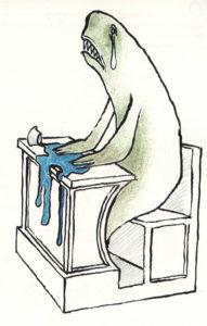 Fig.28 Se lo squalo va alla scuola
