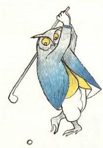 Fig.32 Giocando a golf