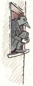 Fig.19 La cornacchia sonnecchia nella nicchia